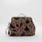 Pouch Locket Jewellery Travel Case - Brown - 3L x 2.6W in.