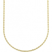 """Simply Gold 10K Yellow Gold 24"""" 1.65MM Rope Chain"""