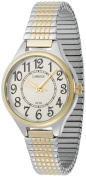 Carriage by Timex Women's Champagne Dial Two-Tone Watch, Expansion Band