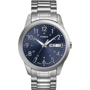 Timex Men's Dress Watch, Stainless-Steel Expansion Band