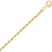 """Simply Gold 10K Yellow Gold 18"""" 2.03MM Rope Chain"""