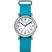 Timex Women's Weekender Watch, Turquoise Nylon Strap