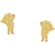 Nickelodeon Dora the Explorer Gold-Plated Stud Earrings