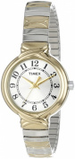 Timex Women's Elevated Classics Dress Watch, Two-Tone Expansion Band