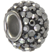 Connexions from Hallmark Grey Crystal Stainless Steel Bead