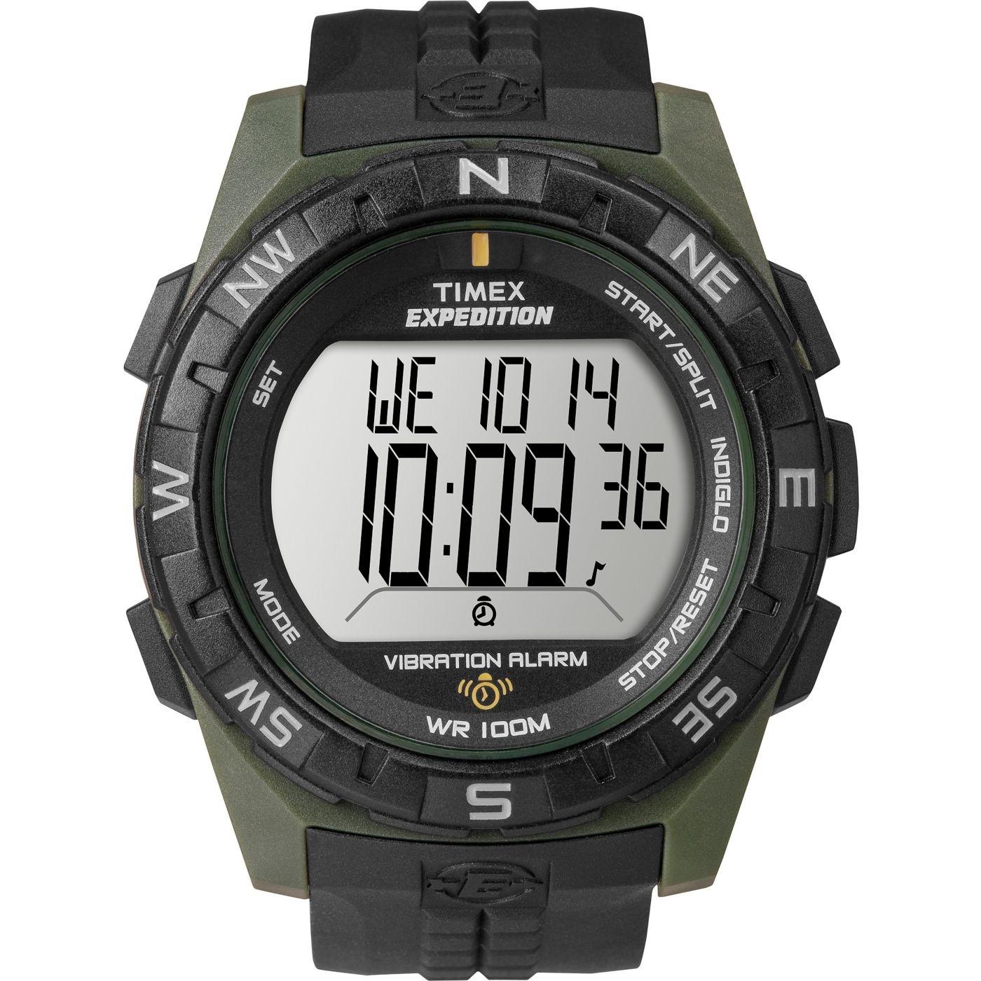 ecff8c58b Timex Men's Expedition Rugged Digital Compass Watch, Black Resin ...