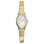 Timex Women's Dress Watch, Stainless-Steel Expansion Band