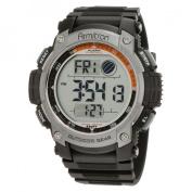 Armitron Men's Grey Bezel Chronograph Watch, Black Resin Strap