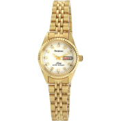 Armitron Women's .  Crystal Accent Gold-Tone Watch