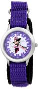 Disney Kid's Minnie Mouse Time Teacher Watch in Purple Nylon