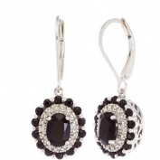 3.3 Carat T.G.W. Onyx and Diamond Accent Sterling Silver Drop Earrings