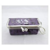 Rectangle Locket Jewellery Travel Case - Purple - 4L x 2.6W in.