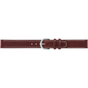 Timex Women's 14mm Stitched Oiled Genuine-Leather Replacement Watch Band, Brown