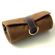 Budd Leather Faux Suede and Leather Jewel Roll in Brown