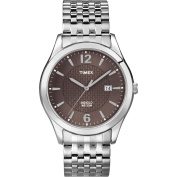 Timex Men's Dress Watch, Silver-Tone Stainless Steel Expansion Band