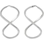 Brinley Co. High Polish Designer Sterling Silver Hoop Earrings