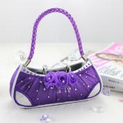Elegant Rose Handbag Ring Holder - Purple - 6W x 6H in.