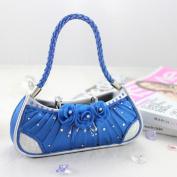 Elegant Rose Handbag Ring Holder - Blue - 6W x 6H in.