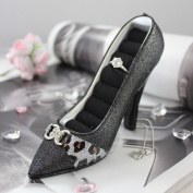 Luxurious Leopard Shoe Ring Holder - Black - 6W x 4H in.