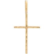 Stick Cross 10kt Yellow Gold Pendant