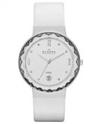 Skagen Classic White Leather Women's Watch