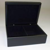 Bey-Berk International Ebony Box with Divider