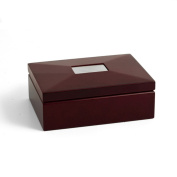 Bey-Berk International Mahogany Box with Divider