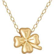 Simply Gold 14kt Yellow Gold Teeny Tiny Clover Pendant, 43.2cm