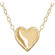 Simply Gold 14kt Yellow Gold Teeny Tiny Heart Pendant, 43.2cm