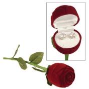 The Premium Connexion Brilliant Cut Cubic Zirconia Stud Earrings In Long Stem Rose