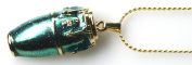 Harmony Jewellery Conga Drum Necklace in Gold and Blue