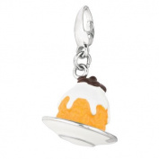 EZ Charms Sterling Silver Frosted Pastry Charm
