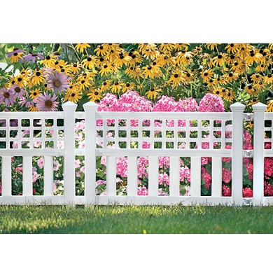 Suncast Grand View Fence, 3-Pack, White