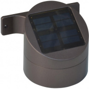 Moonrays 91851 Premium Output Solar Powered LED Wall Mount Deck Sconce Light, Bronze Finish