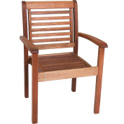 Milano FSC Eucalyptus Wood Outdoor Stackable Chair