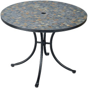 Home Styles Stone Harbour Outdoor Tile Top Dining Table, Black/Slate