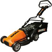 WORX 48.3cm Cordless Electric-Powered Push Lawn Mower with IntelliCut