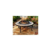 Asia DirectAD658S 40 in. Copper and Slate Fire Pit Table with Stainless Steel Fire Bowl