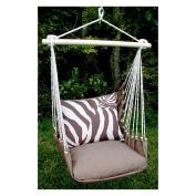 Magnolia Casual Zebra Print Hammock Chair and Pillow Set