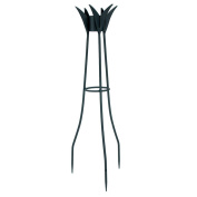 Achla GBS-08 34 in. H Spiked Gazing Globe Stand - Powder Coated in Black