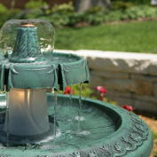 Alpine TEC102 Fountain with Bell Shaped Fountain and Light