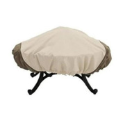 Classic Accessories 78992 Fire Pit Cover - Tan - Up to 44 Inch Wide