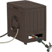Suncast Hydro Power Hose Reel with Auto Rewind, Java
