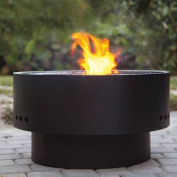 Fire Sense HotSpot Solid Base Revolver Fire Pit with Wooden Top