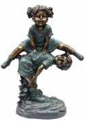 Alpine Corp GXT260 Girl Jumping Over Boy Statue