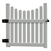 New England Arbours 1.22m Large Cottage Picket Vinyl Arbour Gate