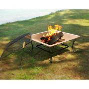 Asia DirectAD213 33 in. Square Copper Fire Bowl Pit