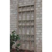Dura-Trel Cottage 1.68m Vinyl Wall Trellis - Mocha