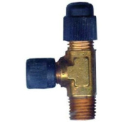 Robinair 15195 Tee 1.3cm and 0.6cm Fittings Pump Inlet Adapter