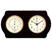 Bey-Berk International Brass Clock, Thermo./Hygro. on Ash Wood T.P.